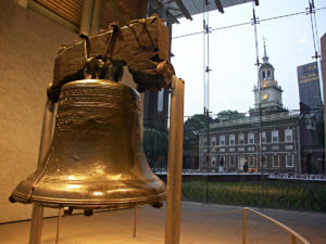 Liberty Bell and Independence Hall. Independence National Historical Park. Philadelphia, Pennsylvania. USA